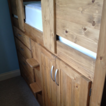 4 Drawer Cabin Bed in Traditional Finish