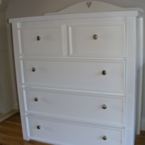 White Chest of Drawers With Star Cut Out