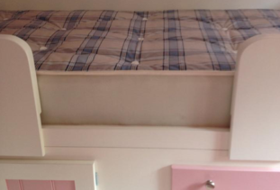 Pink Cabin Bed 4 Drawer