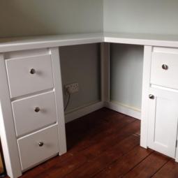 White Corner Desk