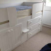 White 3 Drawer Cabin Bed