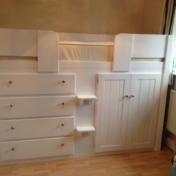 4 Drawer Cabin Bed in White