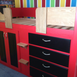 4 Drawer Cabin Bed with a Football Theme