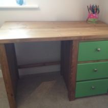 Desk in Traditional and Vibrant Green