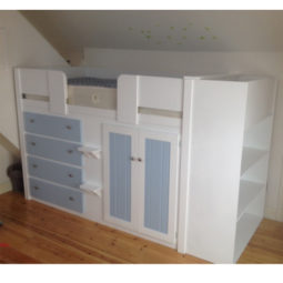4 Drawer Cabin Bed with Additional Shelving