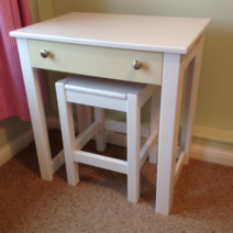 Childrens Desk in White and Cream