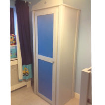 Single Wardrobe with Star Cutout