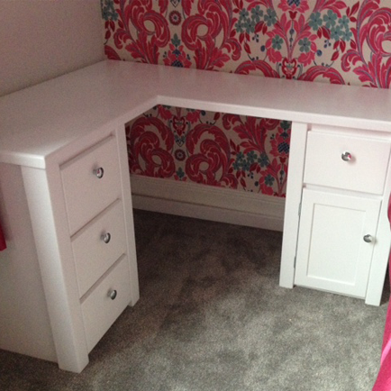 Bespoke Corner Desk In White Aspenn Furniture