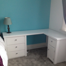 Bespoke White Corner Desk