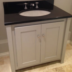 Pavilion Grey Vanity Unit with Black Granite Top