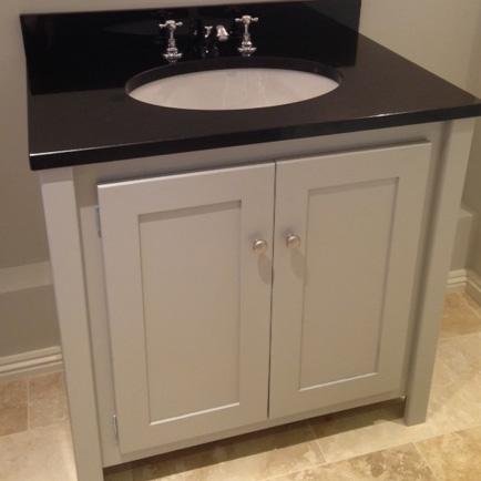 Pavilion Grey Vanity Unit with Black Granite Top