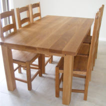 Solid Oak Table 78″ x 36