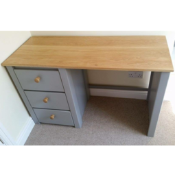 Manor House Grey and Solid Oak Desk