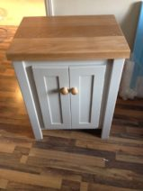 Pavillion Grey Vanity with Solid Oak Top