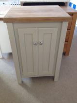 Pavillion Grey Vanity Unit with Solid Oak Top