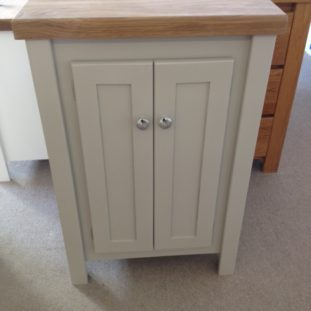 Pavillion Grey Vanity Unit with Solid Oak Top