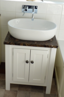 Bone White Vanity Unit with Emperedor Top