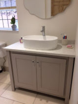 Pavillion grey vanity unit with carrara marble top
