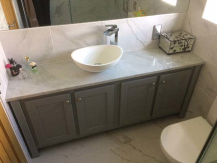 Double Vanity Unit With Single Basin In Pavillion Grey