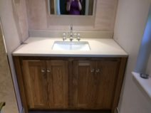 Solid Oak Vanity Unit With Dreamy Marble Top