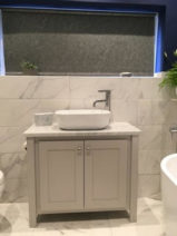 Vanity Unit-Countertop Sink In Pavillion Grey-Carrara Marble