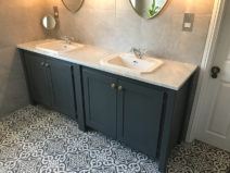 Double Vanity Unit With Inset Sinks