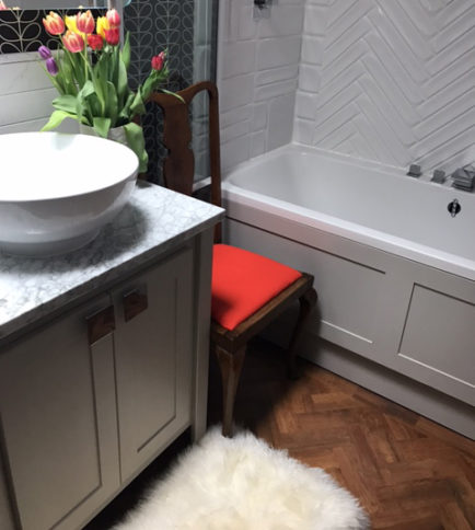 Purbeck Stone Vanity Unit With Carrara Marble Top