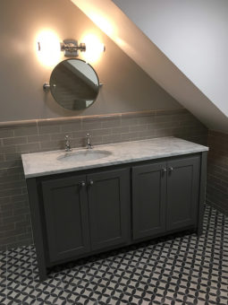 Vanity Unit With Carrara Marble Top