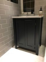 Undercounter Vanity Unit in Farrow and Ball Railings