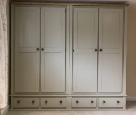 4 Drawer Base Unit With 2 Double Wardrobes