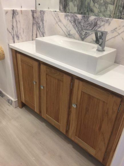 Solid Oak Vanity Unit-Oiled