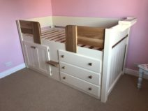 3 Drawer Cabin Bed In Cream