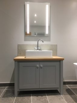 Manor House Grey – Single Vanity Unit