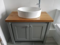 Manor House Grey Vanity Unit – Countertop Sink