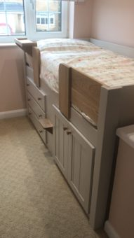 Cornforth White 3 Drawer Cabin Bed