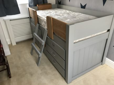 Manor House Grey Cabin Bed