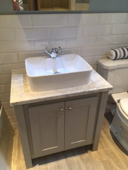 Pavilion Grey Countertop Vanity Unit