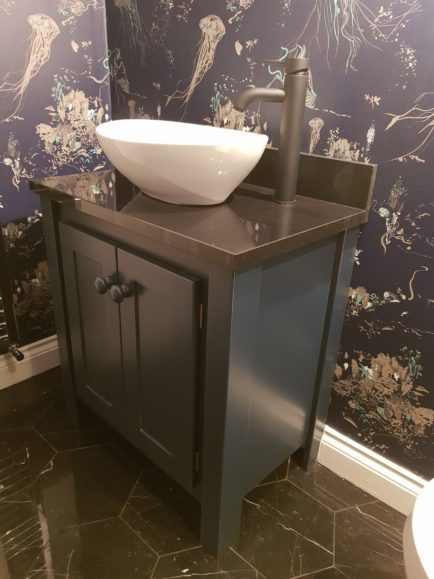 Counter Top Vanity Unit – Hague Blue