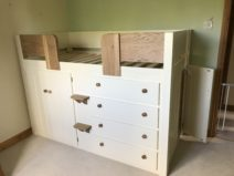 4 Drawer Cabin Bed With Side Door