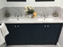 Double Vanity Unit In Hague Blue