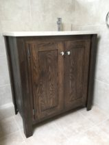 Wood stained Undercounter Vanity Unit