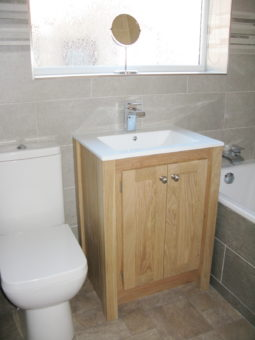 Oak Vanity Unit – Under Counter Sink