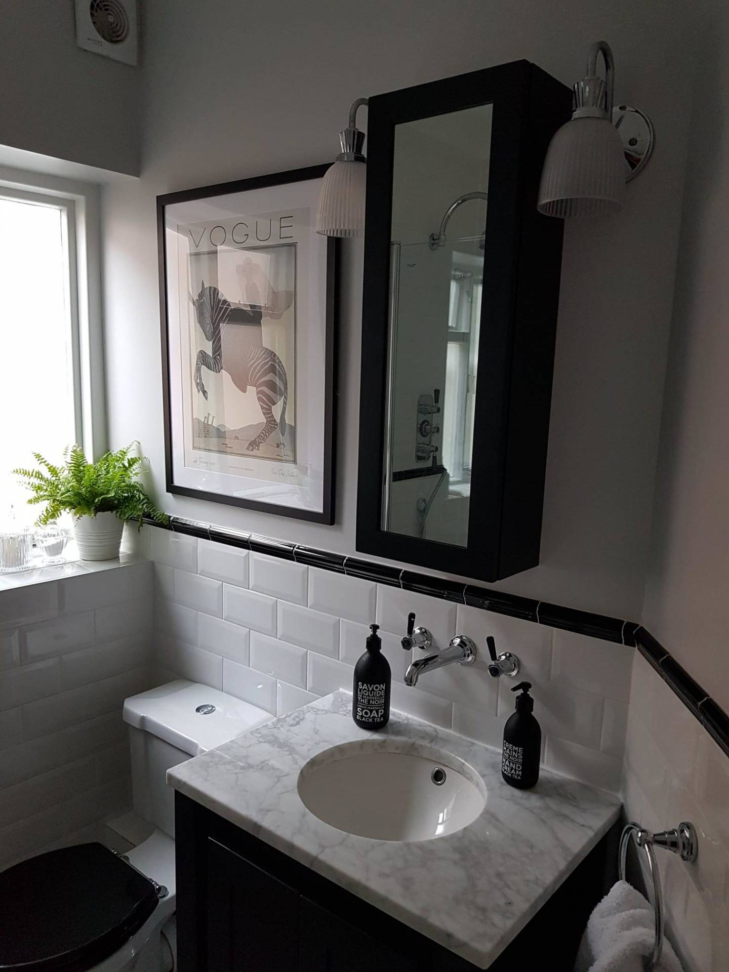 Off Black Mirrored Cabinet