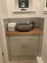 Mizzle Vanity Unit With Solid Oak Top
