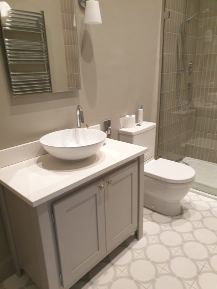 Pavillion Grey Vanity Unit With White Quartz Top