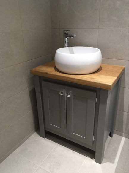 Countertop Vanity Unit In Manor House Grey | Aspenn Furniture