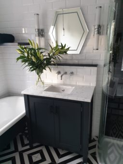 Undercounter Vanity Unit with Carrara Top