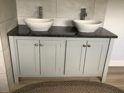 Manor House Grey Double Countertop Vanity Unit