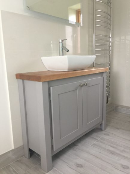 Manor House Grey Narrow Vanity Unit