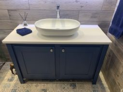 Single Countertop Vanity Unit In Stifkey Blue